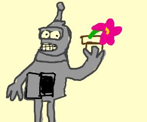 Bender steals a plant