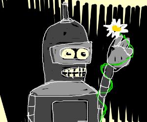 Bender gives a flower