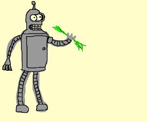 Giant Bender eats little green mam