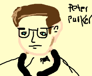 Peter Parker is bitten by a spider