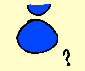 A circle with a semi circle above it