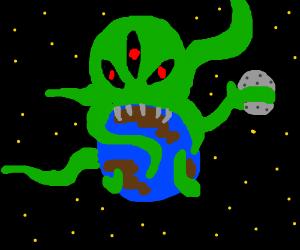 huge tentacle alien