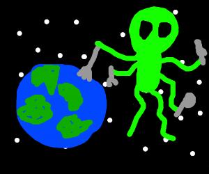 Alien eats earth