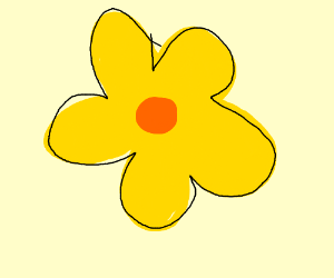 Yellow Flower With Orange Center Drawing By Stephanie Rodriguez Ste