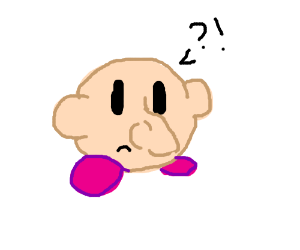 Kirby Is Confuddled At Misplaced Nose