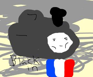 Thomas the tank engine (noir)