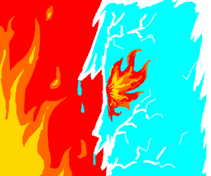 Fire and Ice by TheRisingSoul on DeviantArt |Drawing Fire And Ice Themed