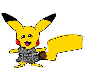 pikachu in a dress