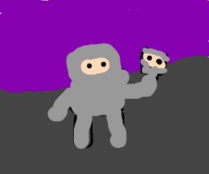 Atomic astrounaut takes selfie w/ purple void