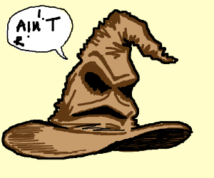 "Choosing cap with mental illness ""GRIFFINDOG!"""