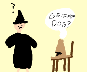 A wizard gets sorted into Griffon dog?