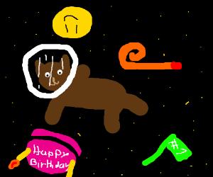 Happy Birthday space cat!