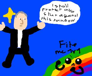 Bush defending star from rainbow