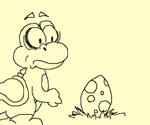 yoshi lays an egg and questions his existence
