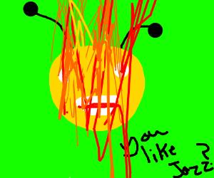 I like jazz guy on fire