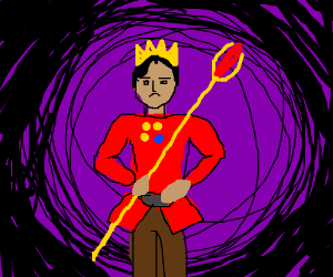 Emperor with Crown and cane