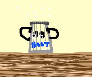 salt shaker shakes itself