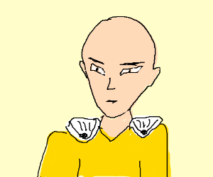 Saitama from One Punch Man (look it up)