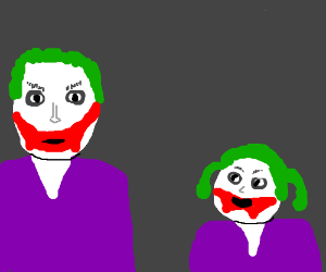Joker and daughter joker