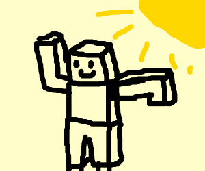 A robot dancing in the sun