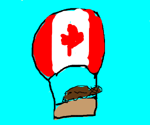 hot air ballooning canadian beaver