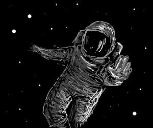 Astronaut Floating Through Space Drawception