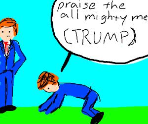 Donald Trump praising himself