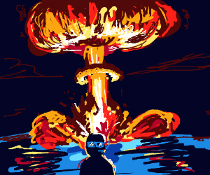 cool guy doesnt look at atomic explosion