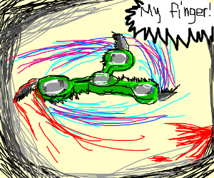 """""""RAZORBLADE FIDGET SPINNER (ALMOST DIED!?!?!)"""""""