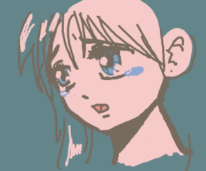 Crying anime girl (Cute!)