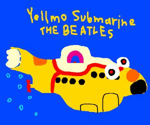 The Beatles in YELLMO submarine, but not Ringo