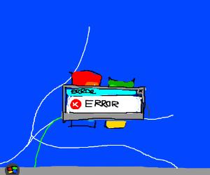 Windows 7 Desktop with Error