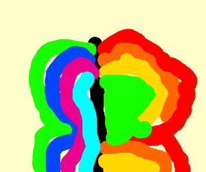 Magical Rainbow butterfly