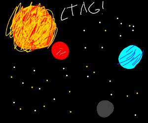 Sun plays tag with the planets.