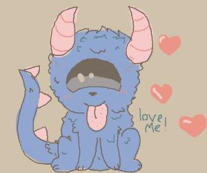 cute demon cyclops doggy wants love