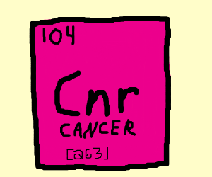Pure cancer means new periodic table element?
