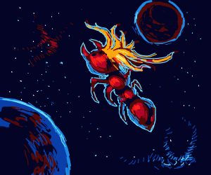 Space ant with long hair!