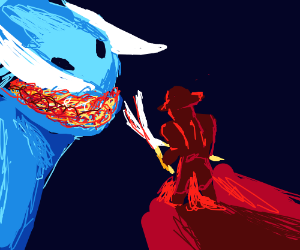 Pirate fights spirit dragon