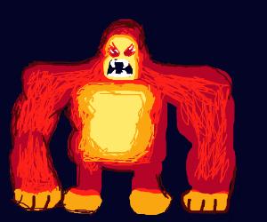 Heman fights red temple run monkey and dalek