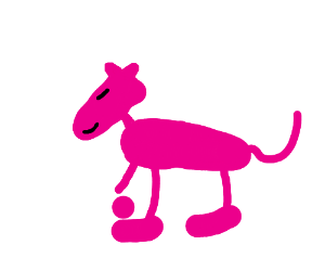 pink cat poses