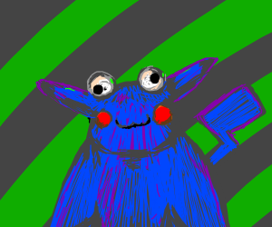 If Pikachu & Cookie Monster had a child
