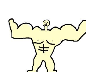 Big Buff Man With Tiny Head Drawception