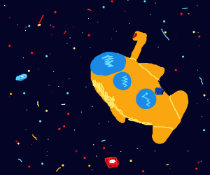 Yellow Submarine in Space . High .