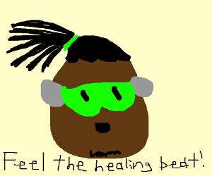 egg lucio says 'feel the beat!'