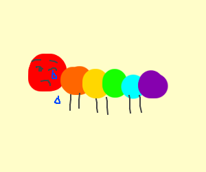 Rainbow catipler crying