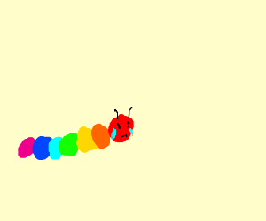 rainbow caterpillar crying