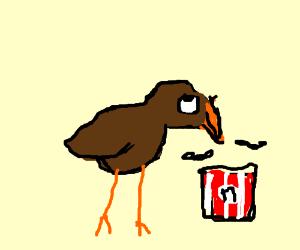 Chickens burning down KFC - Drawception