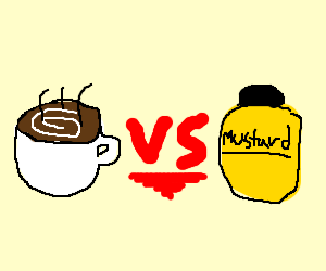 coffee vs mustard