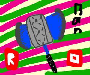 Roblox Ban Hammer Hack Ban Hammer In Roblox