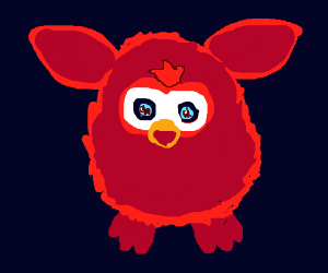 Furby sticking out tounge